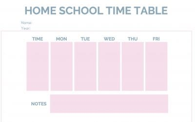 Daily Timetable Download